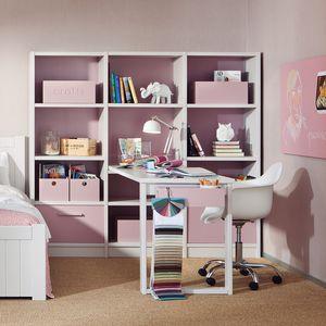 Holz Schreibtisch / Modern / Integrierter Stauraum / Für Kinder