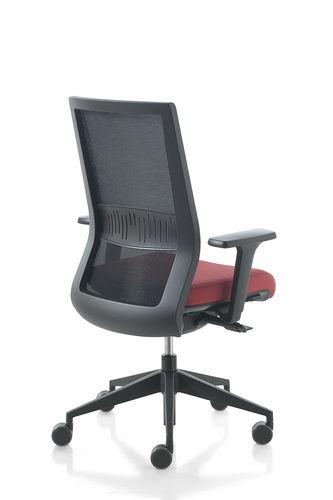 moderner Bürosessel / Netz / mit Rollen / Kopfstütze