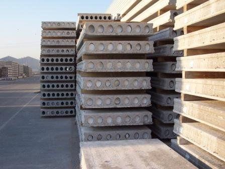 Betonbodenplatte / Spannbeton / mit Wabenstruktur