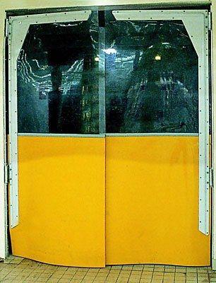 Roll-Industrietür / aus PVC / Innenbereich / für Kühlkammern ISOPASS MAVIFLEX
