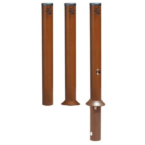 Sicherheits-Sperrpfosten / Stahl / feststehend / abnehmbar