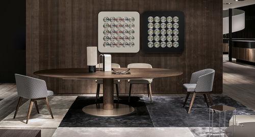 Moderner Esstisch / Holz / Metall / rechteckig BELLAGIO by Gordon Guillaumier Minotti