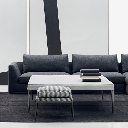 Moderner Sitzpuff / Stoff / aus Aluminium / von Antonio Citterio MIRTO B&B Italia