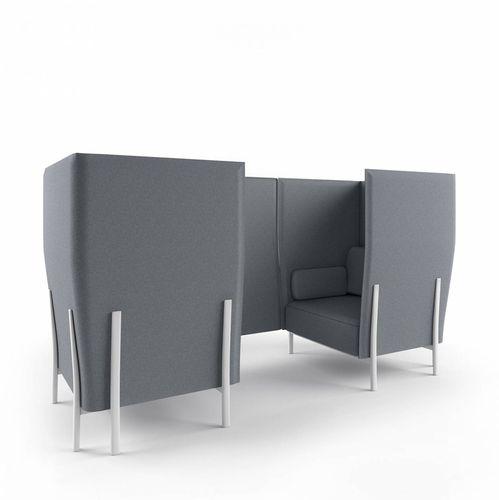 Modulsofa / modern / Stoff / Aluminium