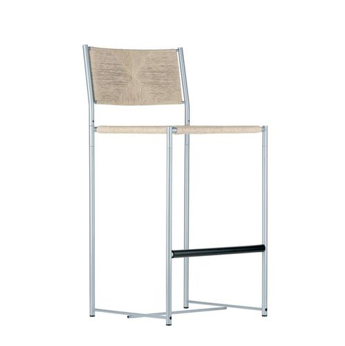 moderner Barstuhl / stapelbar / mit Armlehnen / 100% recycelbar