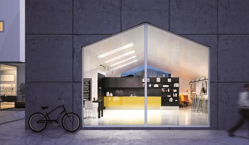 Moderne Küche / Laminat / Holz / lackiert - CRETA by Centro Ricerca ...