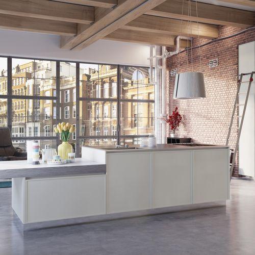 Moderne Küche / Holz / Kochinsel / lackiert - CRETA FRAME by Centro ...