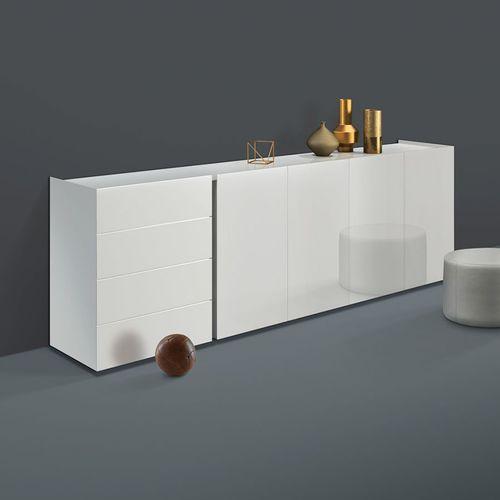 Modernes Sideboard / Massivholz / lackiertes Aluminium JOREL by Philipp Mainzer interlübke