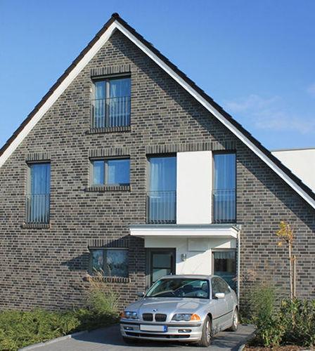 Massivziegel / für Fassaden / grau / schwarz