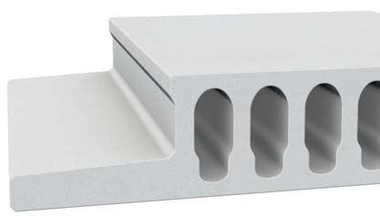 Stahlbetonbodenplatte / Dach / mit Wabenstruktur / Brandschutz