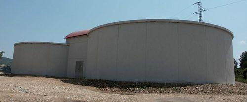 oberirdischer Tank / Fertigbau / Wasserspeicher / Stahlbeton