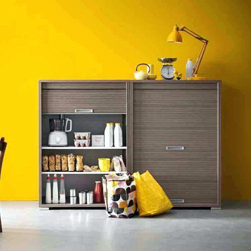 moderner Lagerschrank für Küchen / Holz