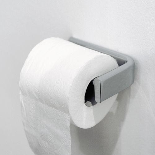 wandmontierter Toilettenpapierhalter / Messing / aus Chrom / Objektmöbel
