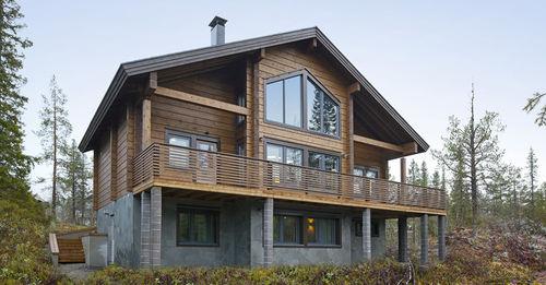 Fertigbauhaus / modern / Massivholz / Öko