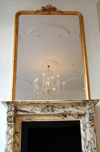 wandmontierter Spiegel / Louis-Philippe-Stil / rechteckig / Metall