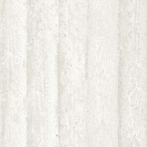 Moderne Tapete / Streifenmuster / Holzoptik / Weiß