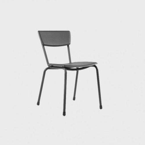 moderner Stuhl / Stapel / Aluminium / Außenbereich