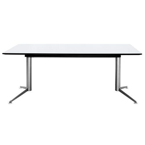Schreibtisch aus Eiche / Melamin / Linoleum / modern