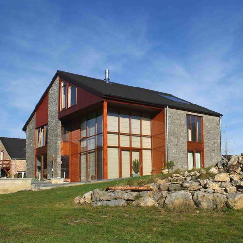 Fertigbauhaus / aus Massivholz-Block / modern / aus Holz CINEY STABILAME
