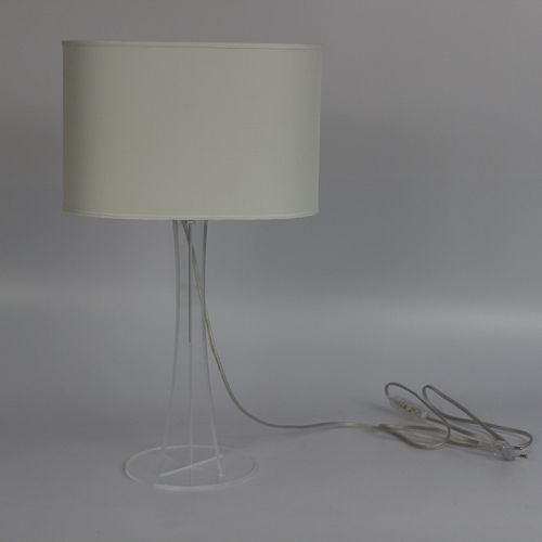 Tischlampe / modern / Stoff / Plexiglas®