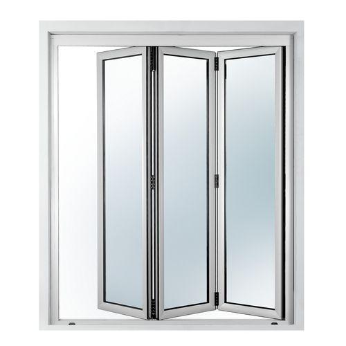Innenbereich-Tür / faltbar / Aluminium / verglast