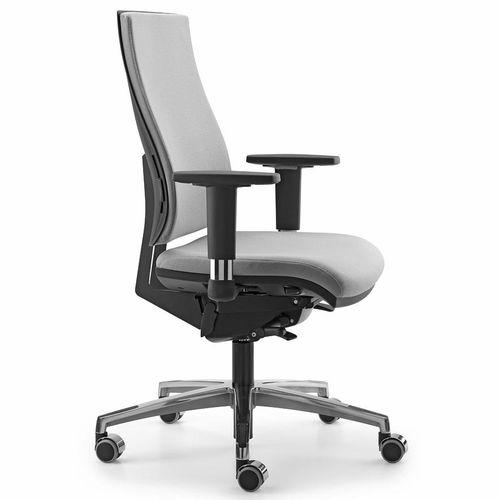moderner Bürosessel / Stoff / mit Rollen / mit Armlehnen