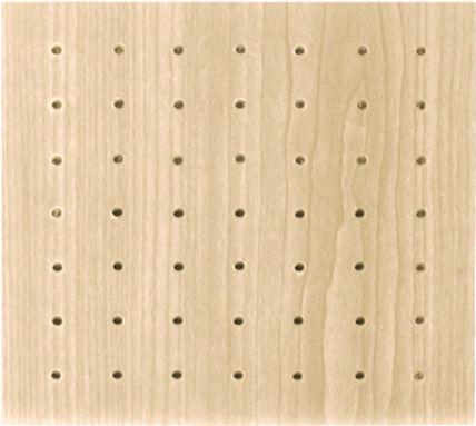 Akustikplatte für Decken / MDF / perforiert / Objektmöbel