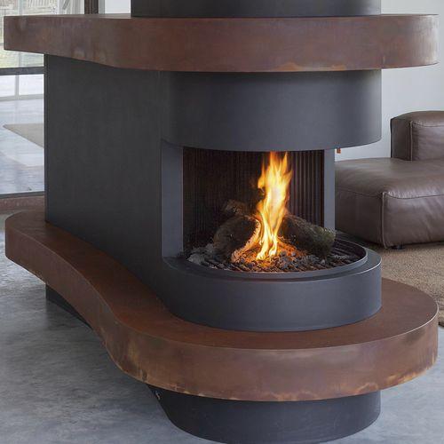 Gaskamin / Holz / modern / offene Feuerstelle
