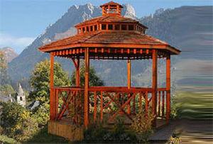 Pavillon / rote Zeder / Douglas-Fichte / kesseldruckimprägnierte ...