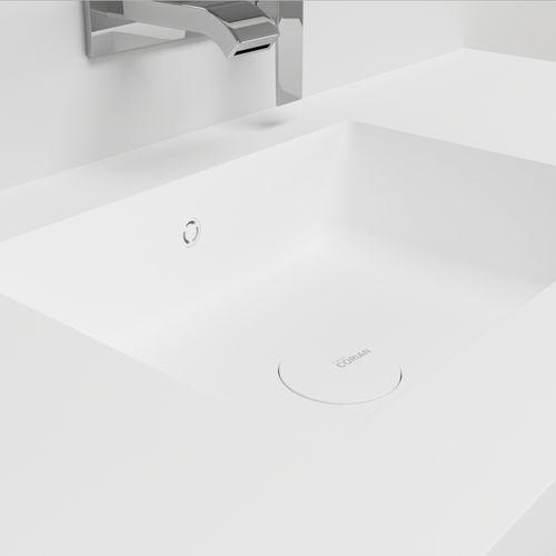Wand-Waschbecken / rechteckig / aus Corian® / modern