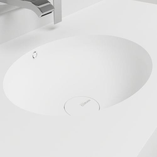 Wand-Waschbecken / oval / aus Corian® / modern