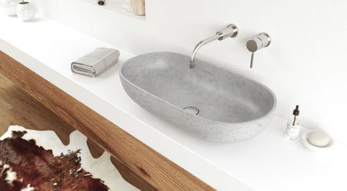 Aufsatzwaschbecken / oval / Beton / modern