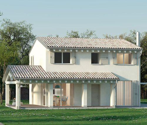 Fertigbauhaus / Modul / modern / aus Holz NANCY T3+3 Bio house