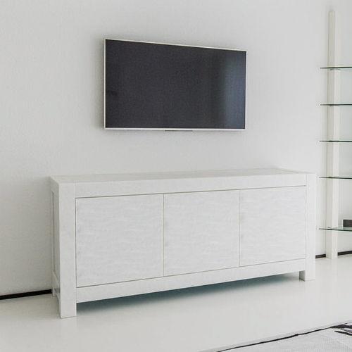 modernes Sideboard / aus Marmor / weiß