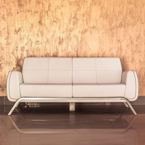 modernes Sofa / Außenbereich / Leder / Aluminium