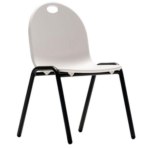 moderner Stuhl / Stapel / für Kinder / aus lackiertem Stahl