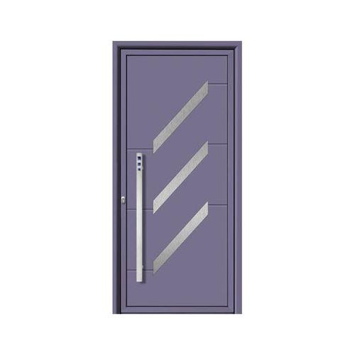 Eingangstür / einflügelig / Aluminium / Edelstahl