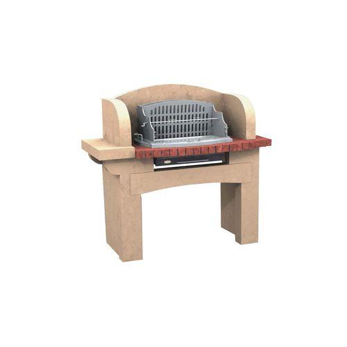 Holz-Gartengrill / festinstalliert / Beton / Stein