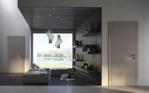 Innenbereich-Tür / einflügelig / Massivholz Miraquadra: 8R, RAL 8039 GAROFOLI