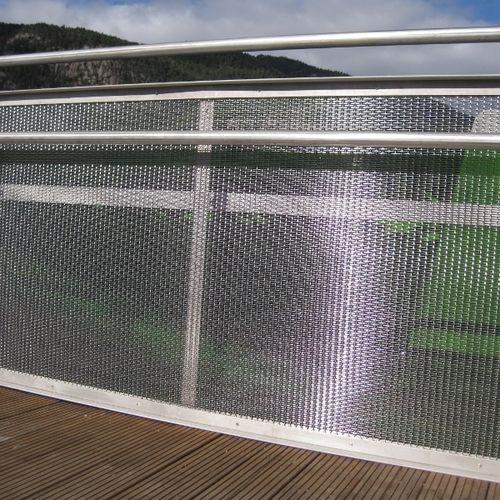 Metallgeländer / mit Stangen / Außenbereich / für Terrassen
