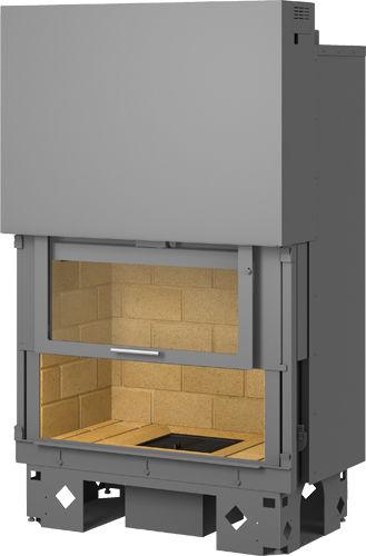 Geschlossene Feuerstelle / Holz / 1 Sichtseite / Metall / Schiebetüren