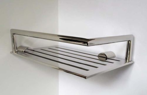 Wandmontiertes Regal / modern / Edelstahl / für Badezimmer ...