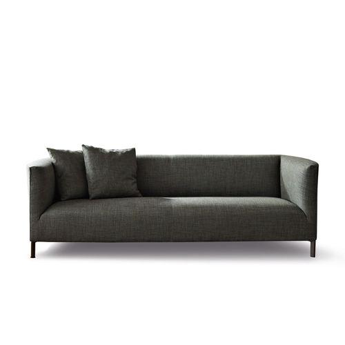 kompaktes Sofa / modern / Leder / Stoff