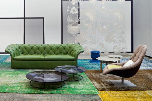 Moderner Sessel / Leder / Textil / Dreh BOHEMIAN  MOROSO