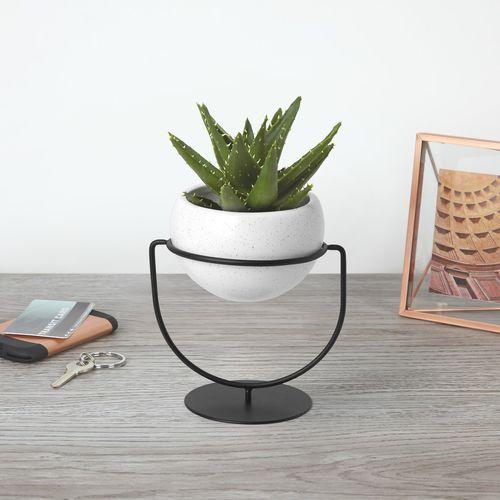 Keramik-Pflanzgefäß / rund