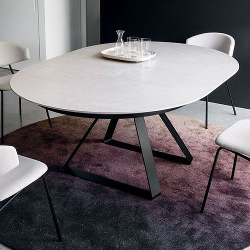 moderner Tisch / Metall / Keramik / rund