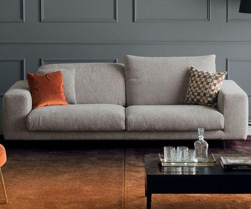modernes Sofa / Stoff / 2 Plätze / Kopfstütze