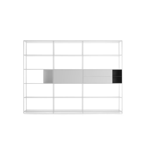 Modulregal / modern / lackiertes MDF / Aluminium