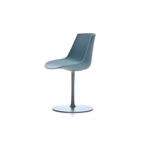 moderner Stuhl / drehbar / sternförmiger Fuß / zentrales Fußgestell
