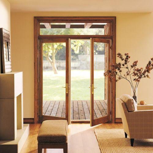 einflügelige Fenstertür / Holz / Glasfaser / Doppelverglasung